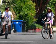 Victoria Justice riding her bike in LA, July 1, 2011