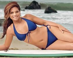 Valerie Bertinelli  New Blue Bikini Photo 1mq