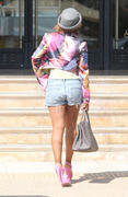 Christina Milian - shopping at Barneys New York in LA 09/25/12