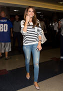 Maria Menounos in jeans arrives at LAX Airport 06/06/14