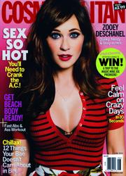 Zooey Deschanel Cosmopolitan magazine June '15 x2 HQ