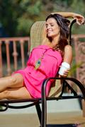 Дениз Милани, фото 5591. Denise Milani Sunbathing in pink :, foto 5591