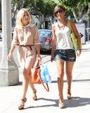 Frankie Sandford &amp;amp; Mollie King | Out for Lunch @ The Newsroom in LA | August 13 | 6 pics