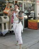 Emmanuelle Vaugier out with her dogs candids -Aug 22 [4x]